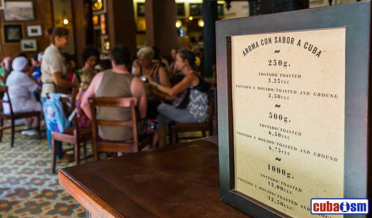 cuba recipes .org - Café O'Reilly, best Cuban cofee shop in Old Havana, Cuba
