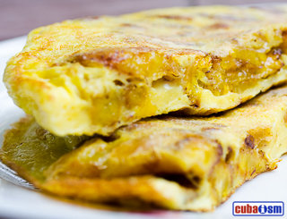cuba recipes .org - Sweet Plantain Omelet